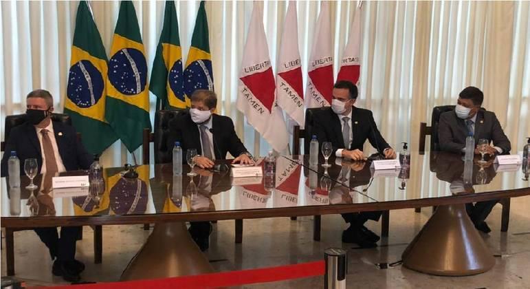 Senador Rodrigo Pacheco esteve na Assembleia de Minas, na tarde desta sexta-feira (5)