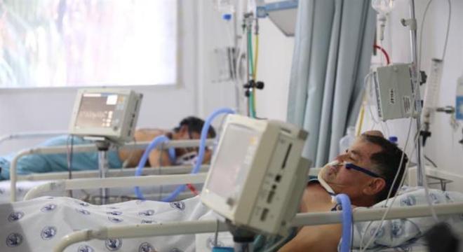 Pacientes internados por covid-19 no México.