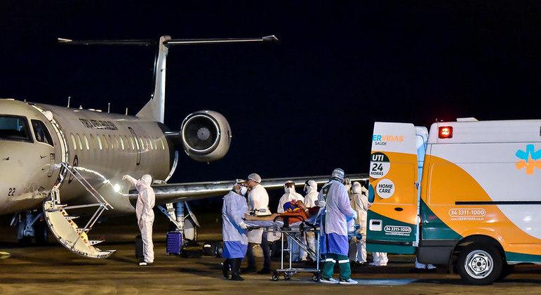 Paciente chegou a Uberaba (MG) no início da semana, vindo de Manaus