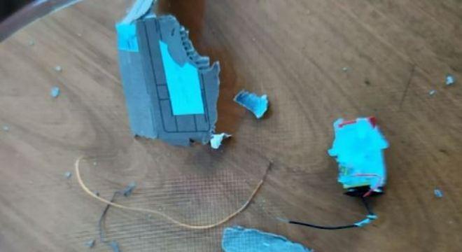 Explosão ocorreu quando a vítima abriu o pacote