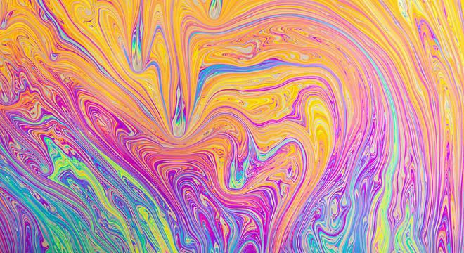 Se você olhar de perto, poderá observar não apenas as cores, mas padrões interessantes