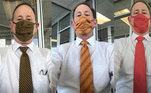 Que as máscaras acabaram se tornando um item de estilo, todos já sabemos. Mas a internet não esperava que os pais também fossem levar o acessório a outro nível de estilo. A usuária Kiana Montgomery publicou uma série de fotos de seu pai, Steven, mostrando que ele sai para trabalhar combinando as estampas da máscara e da gravata