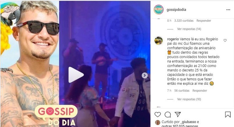 Pai de MC Gui rebate críticas sobre festa