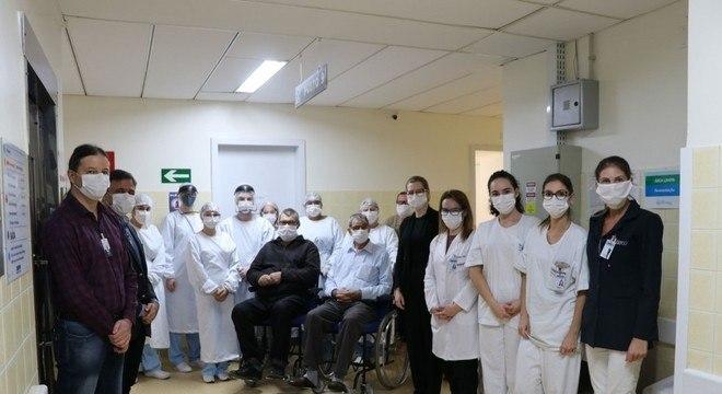 Honorino e Alceu Antonio Bassi receberam alta do Hospital São Vicente de Paulo