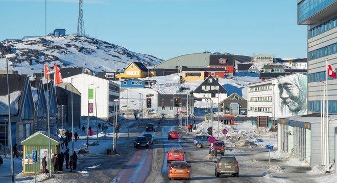 Um terço dos habitantes da Groenlândia vive na capital, Nuuk