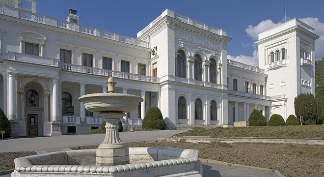 Palácio Livadia, em Yalta. foi o palco das discussões