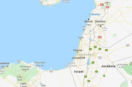 Palestina é um pontilhado dentro do território de Israel