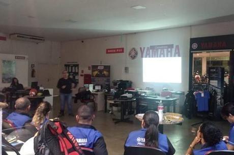 Durante palestra para funcionários da Bingool em Porto Velho