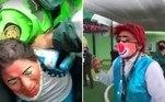 Um grupo de palhaços foi detido pela polícia durante um velório em San Juan de Lurigancho, no Peru