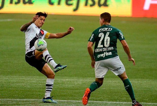 Palmeiras 1 x 1 Vasco - 26/1/2021 - O time reserva do Palmeiras saiu na frente, mas Benítez marcou um golaço de falta.