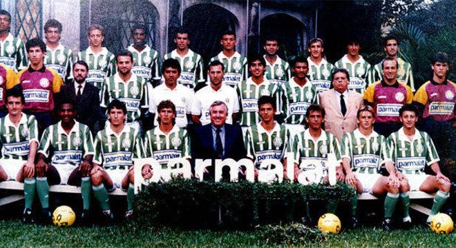 O elenco fraco do Palmeiras, quando fechou acordo com a Parmalat