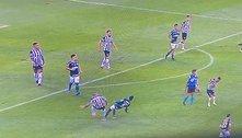 Com expulsão absurda, Palmeiras perde. Atlético dispara na liderança