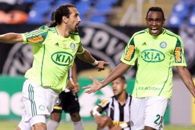 Palmeiras: 19º colocado na 6º rodada do Brasileirão de 2012 com 2 pontos. Terminou o campeonato em 18º lugar