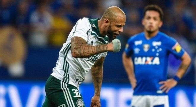 A celebração do Palmeiras, o gol de Felipe Melo