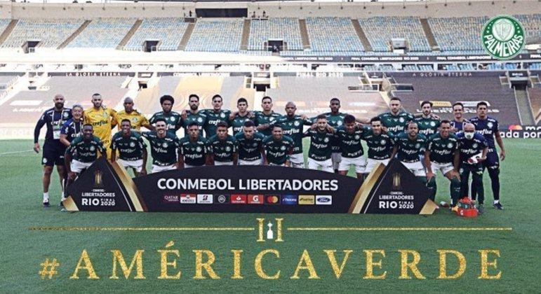Todo o elenco  campeão da Libertadores de 2020/2021