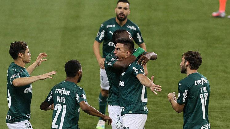 Palmeiras 5 x 0 Bolívar-BOL – Allianz Parque, em São Paulo – 30/9/2020 – Fase de grupos – Gols: Willian, Wesley, Viña, Raphael Veiga e Rony.