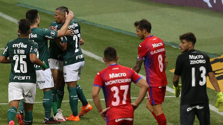Palmeiras 5 x 0 Tigre-ARG – Allianz Parque, em São Paulo – 21/10/2020 – Fase de grupos – Gols: Raphael Veiga, Gómez, Zé Rafael, Gabriel Veron e Rony.