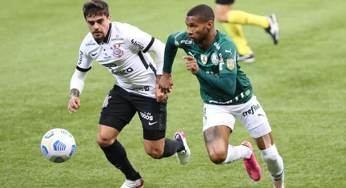 Clássico entre Palmeiras e Corinthians terminou em 1 a 1