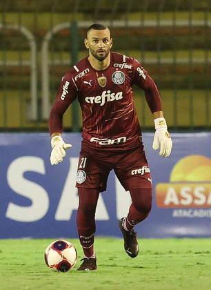 Palmeiras: Weverton (Brasil), Gustavo Gómez (Paraguai) e Matías Viña (Uruguai)