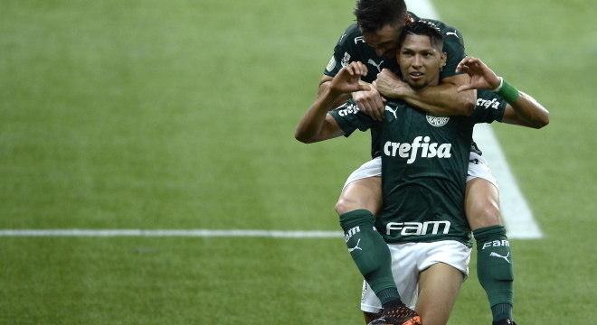 Willian e Rony fizeram gols do Palmeiras contra o Bahia