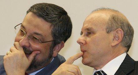 Palocci e Mantega foram ministros da Fazenda do PT
