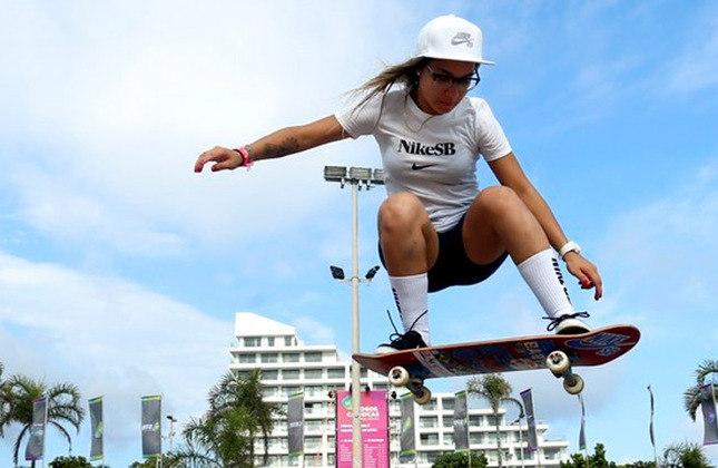 Pâmela Rosa é uma das principais apostas do Brasil no skate, modalidade que fará sua estreia no programa olímpico. Ela compete na modalidade street