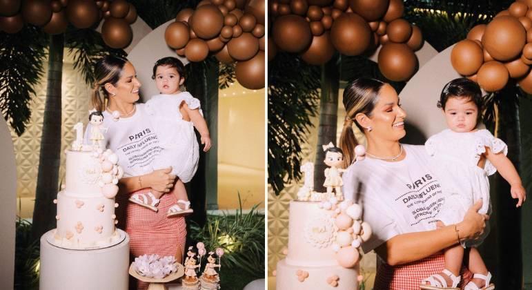 Com DJ Ivis preso, Pamella Holanda celebra 1º aniversário da filha