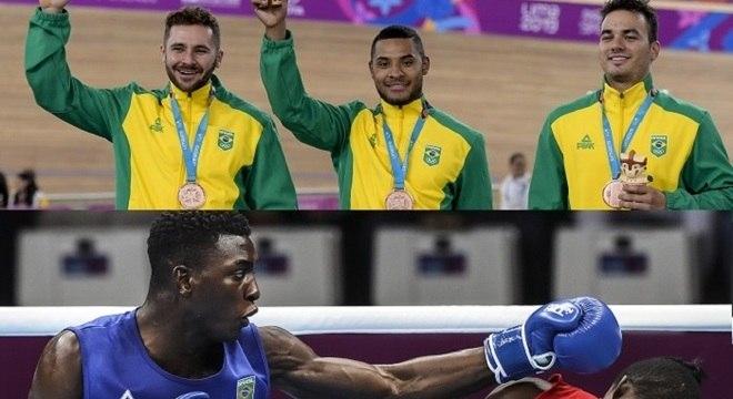 Boxe e ciclismo foram únicas fontes de medalhas do Brasil no dia