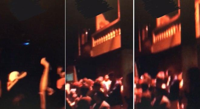 Imagens mostram jovens aglomerados durante pancadão no final de semana