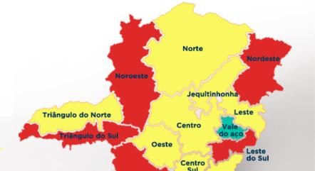 Cinco regiões seguem na fase vermelha