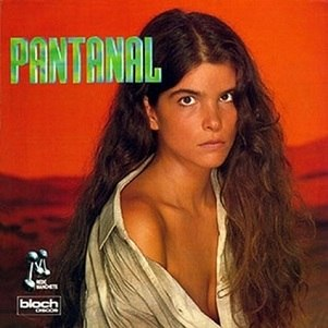 "Cristiana Oliveira na capa do disco de ""Pantanal"""