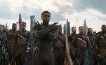 Sua imagem mais marcante foi como o primeiro filme com um super-herói negro da franquia Marvel, Pantera Negra