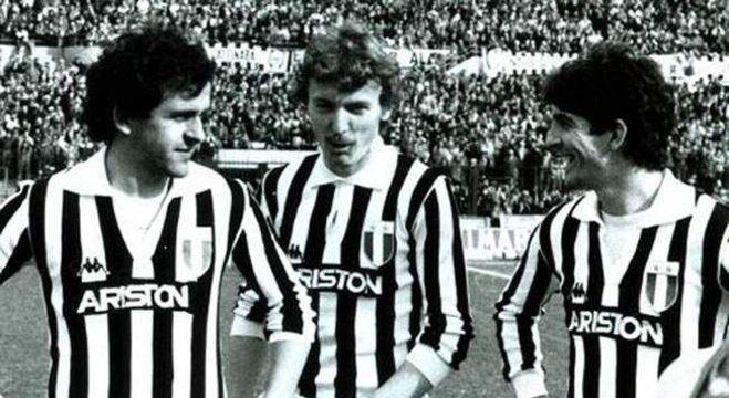 Na Juve, com Michel Platini e Zibi Boniek