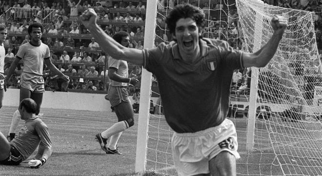 Rossi marcou seis gols e foi fundamental no tricampeonato da Itália na Copa