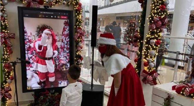 Shoppings terão a presença do bom velhinho de forma virtual