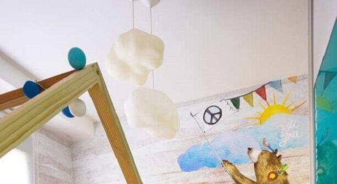 papel de parede infantil para quarto montessoriano
