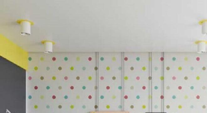 papel de parede para quarto infantil com bolinhas coloridas