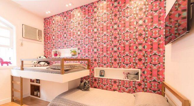 papel de parede para quarto infantil feminino planejado