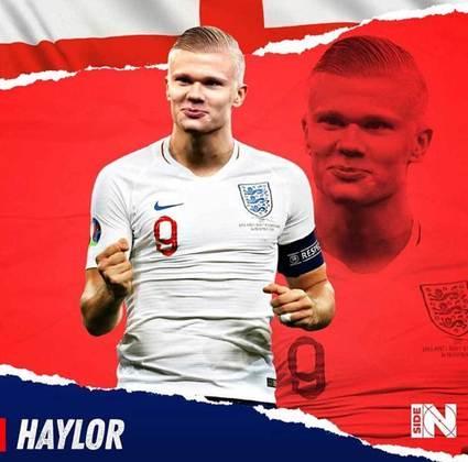 Para aqueles que não sabem, Haaland nasceu na Inglaterra, mas optou defender a seleção da Noruega
