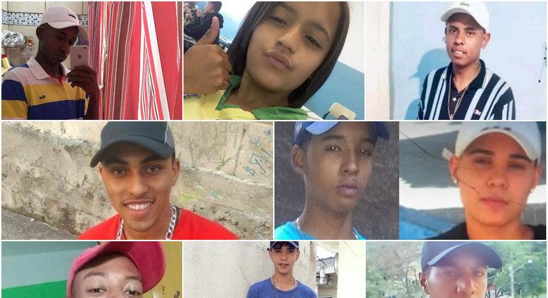 Nove jovens morreram durante ação policial