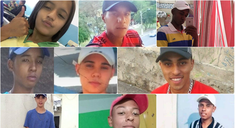 Vítimas morreram em dispersão de baile funk em Paraisópolis, na zona sul de SP