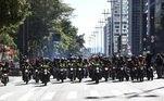 Manifestação e paralisação de motoristas de entrega de comida por aplicativo na região da Avenida Paulista em São Paulo (SP), nesta quarta-feira (1), por melhores condições de trabalho, e por apoio em meio a pandemia da Covid-19, do novo coronavírus.