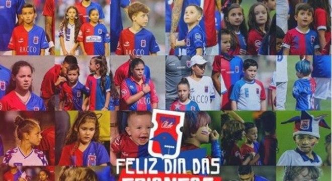 Paraná. Ameaçado de rebaixamento, o time de Curitiba festejou o feriado discretamente com uma foto no perfil oficial do clube