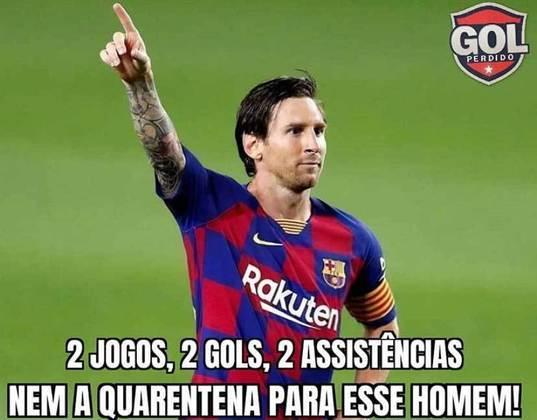 Parece que Messi voltou da quarentena com a mesma qualidade de sempre
