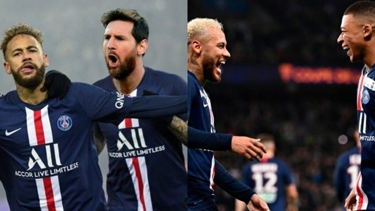 Paris Saint-Germain - Navas, Kehrer, Marquinhos, Kimpembe, Kurzawa; Paredes, Herrera; Messi, Neymar, Di Maria; Mbappé. Técnico: Thomas Tuchel.