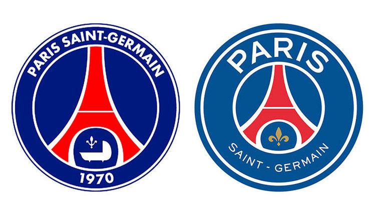 Paris Saint-Germain - O emblema do clube francês passou por uma transformação em 2013, ganhou um tom azul mais claro e uma flor-de-lis, símbolo da antiga monarquia