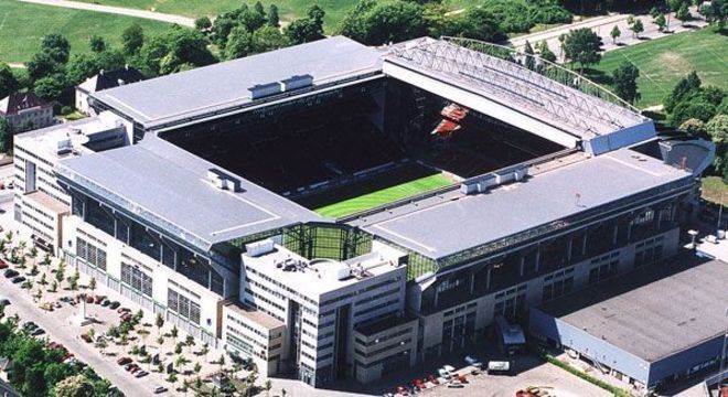 O Parken Stadion de Copenhague, na Dinamarca