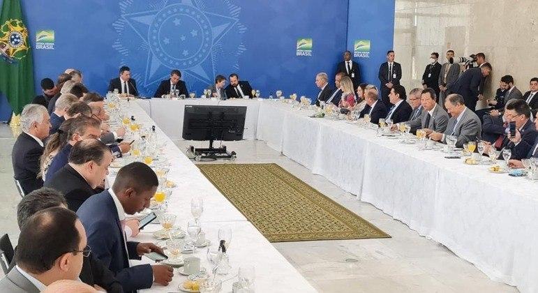 Parlamentares do Agronegócio em reunião com Bolsonaro