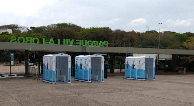 Parques receberam doação de 12 cabines higienizadoras