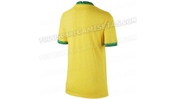 Parte de trás da camisa da seleção brasileira